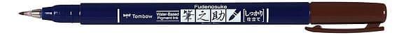 Tombow Fudenosuke Brush pen -  Hard Tip  - Brown