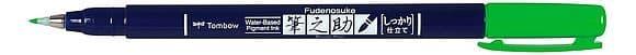 Tombow Fudenosuke Brush pen -  Hard Tip  - Green