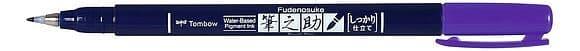 Tombow Fudenosuke Brush pen -  Hard Tip  - Purple