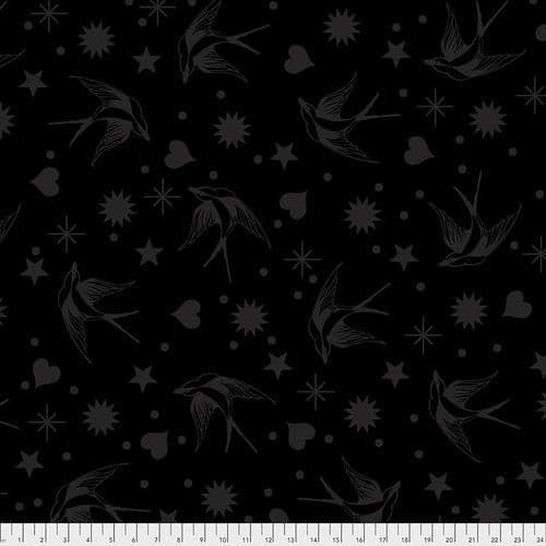 Tula Pink Fabric - Linework Collection - 50cm - Fairy Flakes - Ink