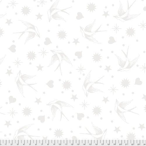 Tula Pink Fabric - Linework Collection - 50cm - Fairy Flakes - Paper