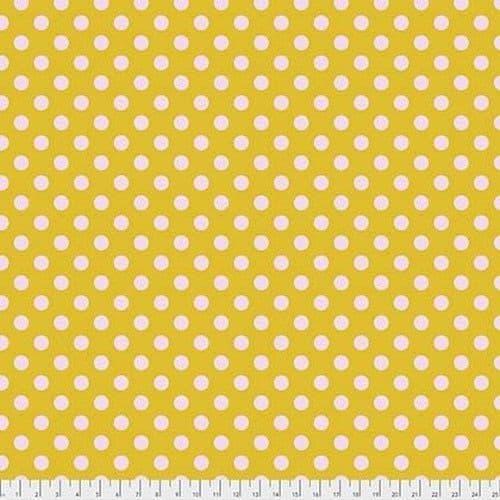 Tula Pink Fabric - True Colours - Pom Poms - Marigold