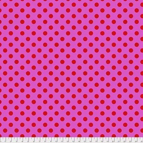 Tula Pink Fabric - True Colours - Pom Poms - Peony