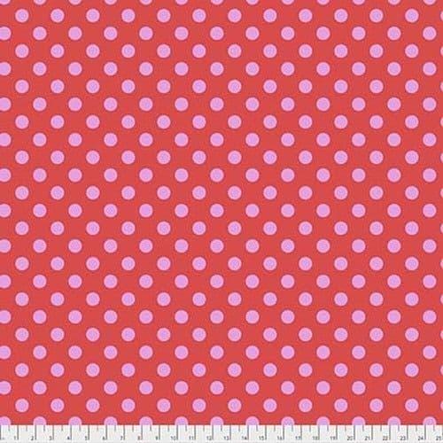 Tula Pink Fabric - True Colours - Pom Poms - Poppy