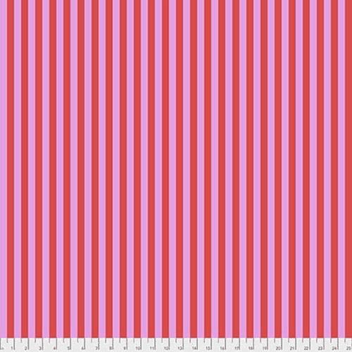 Tula Pink Fabric - True Colours - Tent Stripe - Poppy