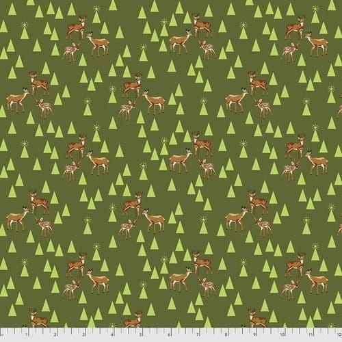 Tula Pink - Holiday Homies Flannel - 50cm - Road Trip - Pine Fresh