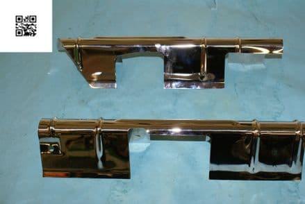 1957-1961 Corvette C1 Horizontal Ignition Shield Set A5438 (Pair), Used Good