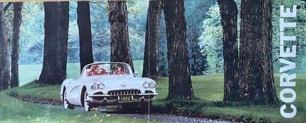 1960 Corvette  1960  fold-out  Colour Sales Brochure  1960 B60
