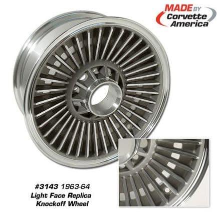 1964,65,66 Knock Off Wheel,Light Face,Corvette America 3143,New