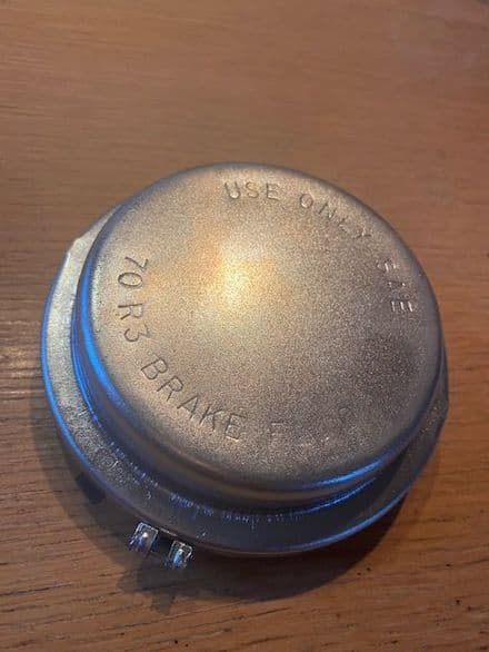1965 - 1966  C2 MASTER CYLINDER LID COVER non-power non-servo .restored with used gasket plated