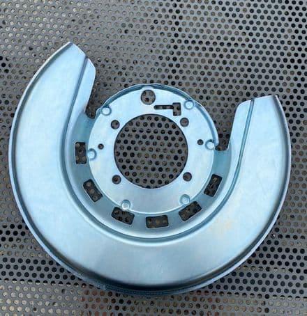 1965-1975  RH Rear Brake plate SHIELD GM 5465982 , New. Silver  Fits 1976-1982  too