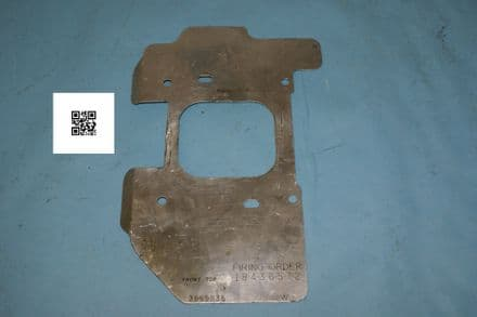 1968-1970 Corvette C3 Big Block GM Heat Shield 3969835, used fair