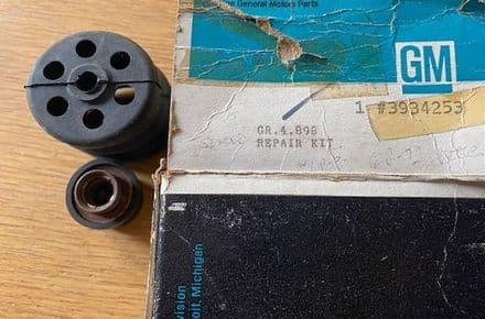 1968 - 1972  C3 Corvette  Booster OEM RUBBER SEAL VENT incomplete repair kit GM 3934253