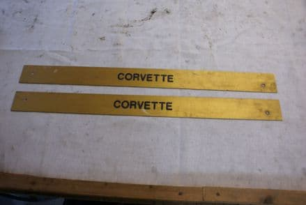 1968-1977 C3 Corvette,Pair of CUSTOM Door Sill Plate,Used