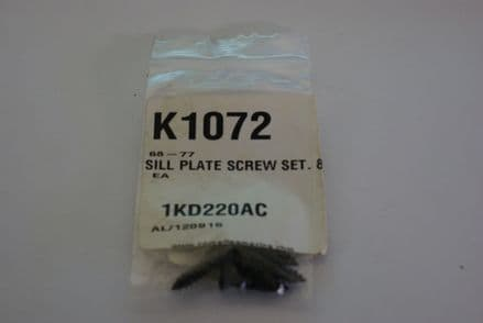 1968-1977 Corvette C3,Sill PlateScrew Set (8pc),New,Box C
