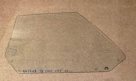 1969L -1975 C3 Convertible,RH DOOR GLASS/WINDOW, Used dated GV
