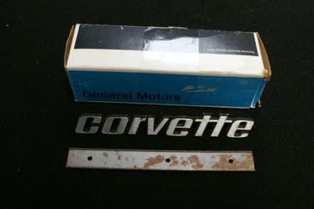 1976 Early C3 Corvette, Rear Emblem, GM 374699, New