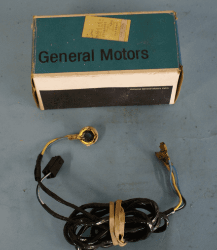 1977-1982 Corvette C3 Lock Cylinder Alarm On/Off Switch HARNESS ONLY, New, Box B