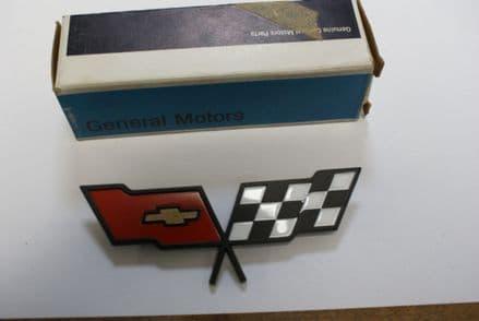 1982 C3 Corvette,Fuel Door Emblem,GM 14042293,New