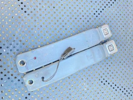 """1984-1994  PAIR  Charcoal  C4  13"""" seat belt RECEIVER LATCH  female , button   ,Used"""