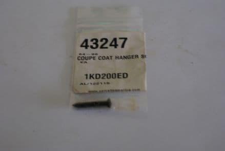 1984-1996 Corvette C4,Coupe Coat Hanger Screw,New,Box C