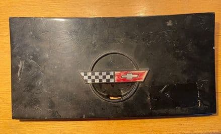 1984-96 C4 Corvette, Coupe fuel gas lid flap door assembly GM 14047485 + 10125966 base ok hinges