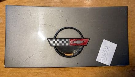 1984-96 C4 Corvette, Coupe fuel gas lid flap door  GM 14047485
