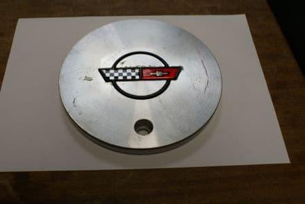 """1988-1989 C4 Corvette,Wheel Centre Cap for 17"""" Wheels,GM 10055340,Used Good"""