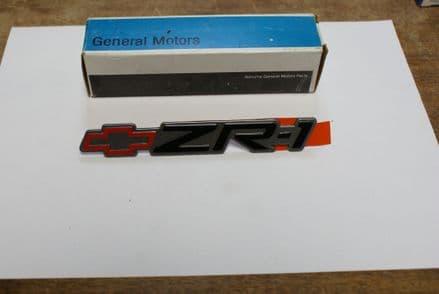 1990-1991 C4 Corvette,ZR1 Rear Bumper Emblem,GM 10146448,New