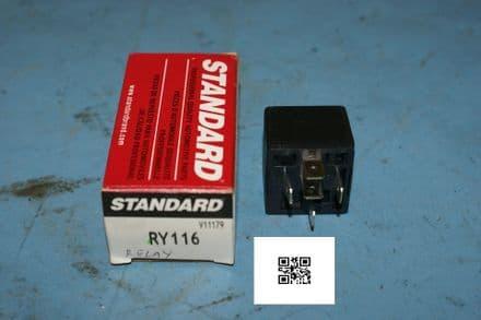 1990-1994 Corvette C4 Fuel Pump Relay, Standard RY116, New In Box
