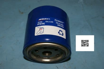 1990-1995 Corvette C4 ZR1 Only Oil Filter, AC Delco PF970C, New