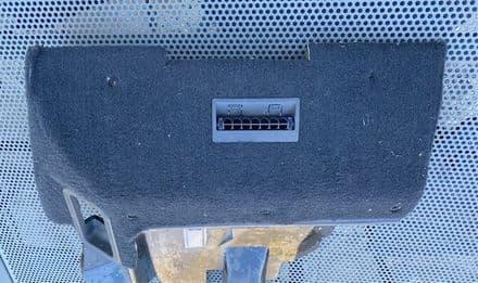 1990-91 C4 GM LH HUSH PANEL Knee Bolster Lower dash  black carpet, inc GM 10100163 lap cooler