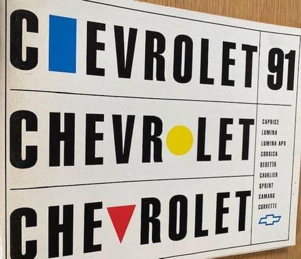 1991 French / francais  Chevrolet full range Brochure 90  pages inc Corvette & Camaro