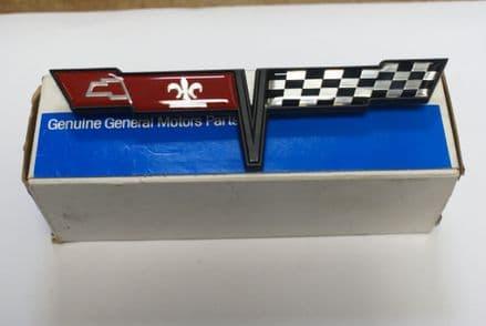 C3 Corvette,Fuel Door Emblem,GM 14030130,New