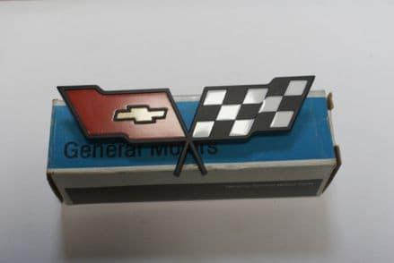 C3 Corvette,Fuel Door Emblem,GM 14042293,New