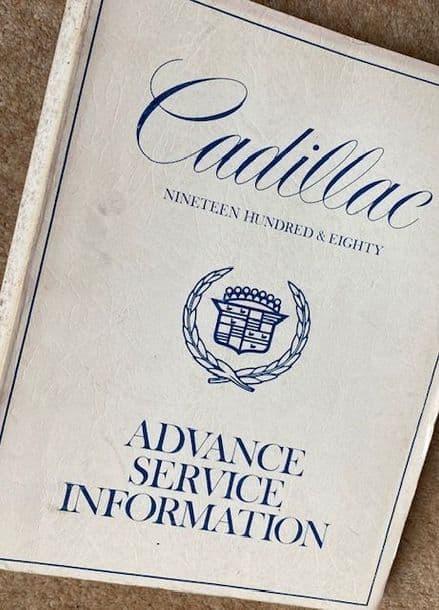 GM  OEM Shop Manual 1980 Cadillacs All inc Wiring Diagrams