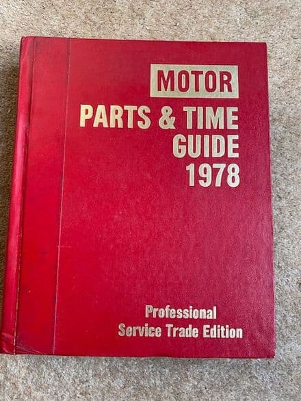 MOTOR Parts & Time Guide 1978  Professional Edition