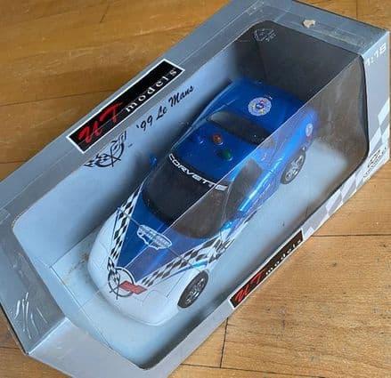NEW  Unopened  UT Models  1999 CORVETTE  C5  LE MANS PACE CAR  in BLUE  1/18 scale 39922 UT 0597