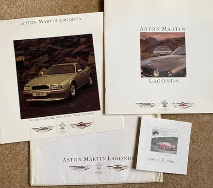 Not Corvette! Rare 1986  Aston Martin Lagonda  full range  colour brochures inc Virage