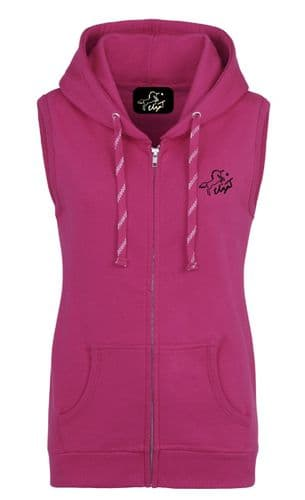 AW19 Eliza T Sweat Gilet - Hot Pink