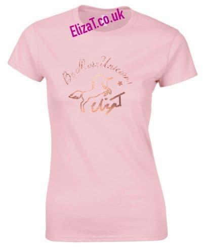 Eliza T Be More Unicorn Tee - Powdered Rose