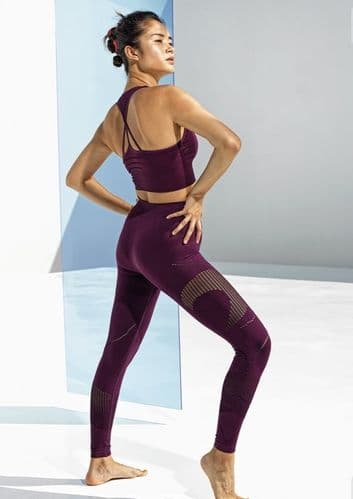 Eliza T Sports 'Debbie' Leggings - Black Grape