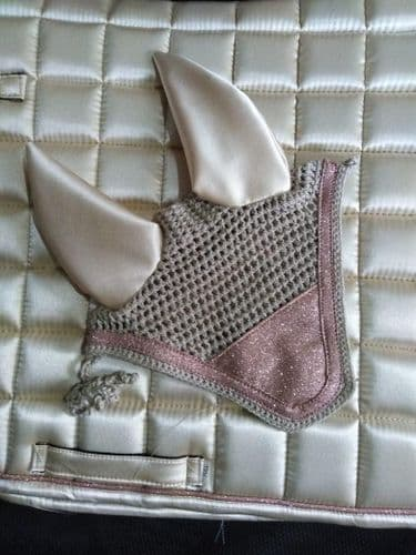 SS20 Eliza T Satin Sparkle Bonnet - Pink Champagne