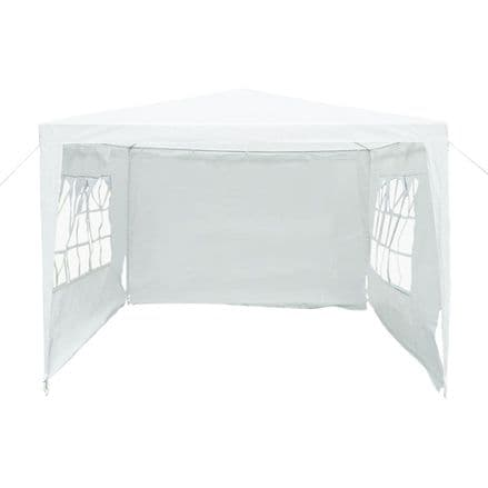 3M X 3M Garden Gazebo Awning Wedding/Party Tent - White Showerproof Pe