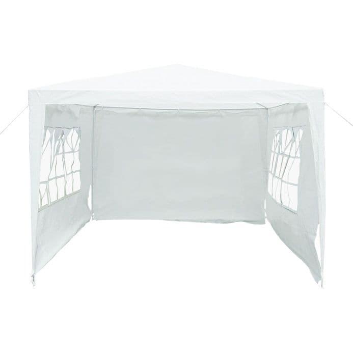 3M X 3M Garden Gazebo Awning Wedding/Party Tent - White Showerproof Pe