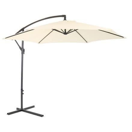 Bentley Garden 3M Hanging Banana Patio Garden Umbrella Parasol - C