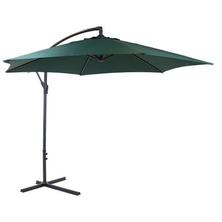 Bentley Garden 3M Hanging Banana Patio Garden Umbrella Parasol - G