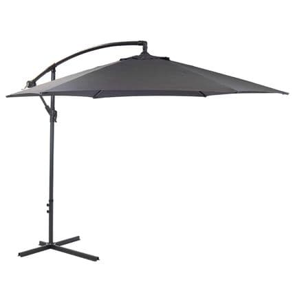 Bentley Garden 3M Hanging Banana Patio Garden Umbrella Parasol - Gr