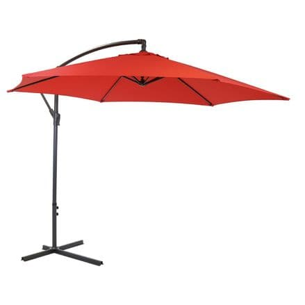 Bentley Garden 3M Hanging Banana Patio Garden Umbrella Parasol - R