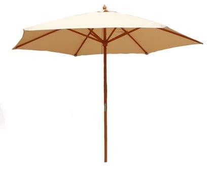 Bentley Garden Large 2.4M Wooden Garden Patio Parasol Shade Umbrella 38Mm Pole